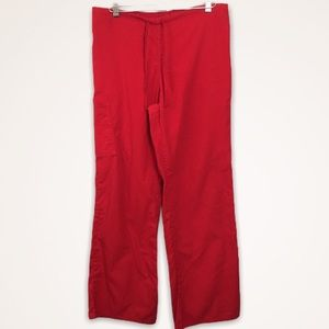 SB Scrub Pants Red Scrubs Size Small